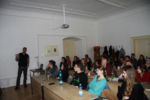 Přednáška PhDr. Martina Krumhmholze, Ph.D. na půdě Fakulty restaurovaní